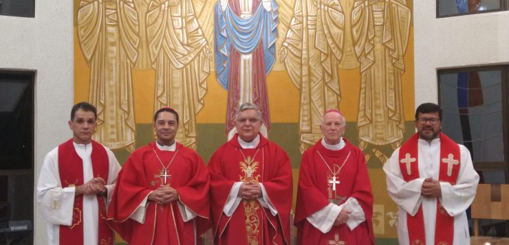 Arcebispo de Niterói e novo reitor do Colégio Pio Brasileiro visitam o Seminário