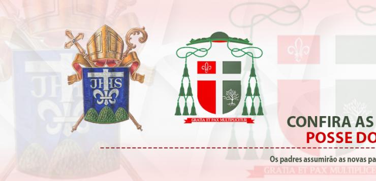 Confira as datas das posses dos padres que assumirão novas Paróquias