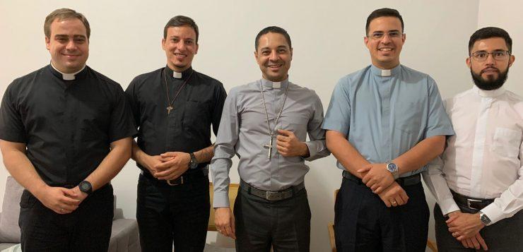 Dom Lindomar se encontrou com os padres que celebraram o primeiro ano de Ordenação Presbiteral